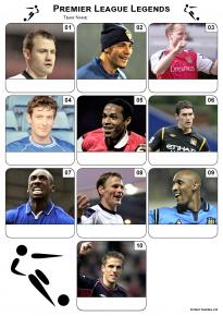 Premier League Football Legends Mini Picture Quiz - Z3046