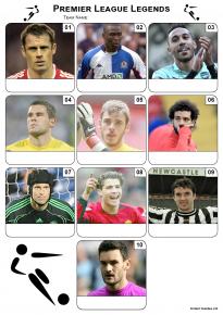 Premier League Football Legends Mini Picture Quiz - Z3048