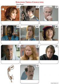 Stranger Things Characters Mini Picture Quiz - Z3071