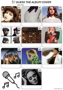 Album Covers - Mini PIcture Quiz Z3092