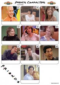 Friends Characters Mini Picture Quiz - Z3127