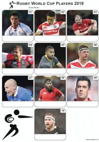 Rugby World Cup 2019 Players Picture Quiz - Z3166
