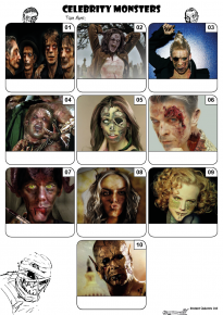 Celebrity Monsters Mini Picture Quiz Z3173