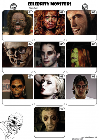 Celebrity Monsters Mini Picture Quiz  - Z3174