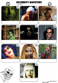 Celebrity Monsters Mini Picture Quiz - Z3175