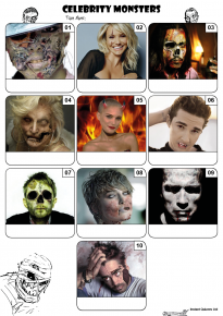 Celebrity Monsters Mini Picture Quiz - Z3176