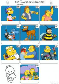 The Simpsons Mini Picture Quiz - Z3186