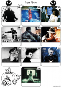 Scary Movies Mini Picture Quiz Z3195