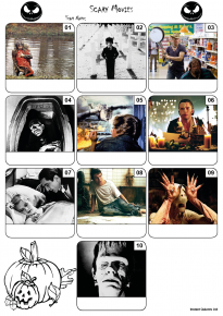 Scary Movies Mini Picture Quiz Z3196