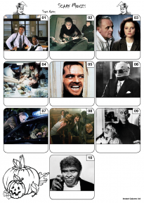Scary Movies Mini Picture Quiz - Z3197