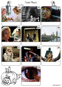 Scary Movies Mini Picture Quiz Z3198