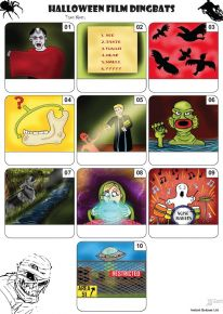 Halloween Dingbats Mini Picture Quiz - Z3199