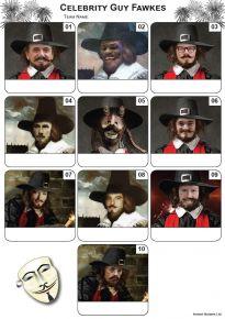 Celebrity Guy Fawkes Mini Picture Quiz - Z3209