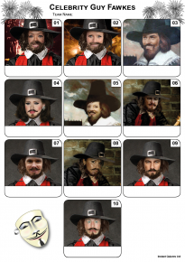 Celebrity Guy Fawkes Mini Picture Quiz - Z3210