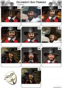 Celebrity Guy Fawkes Mini Picture Quiz - Z3211