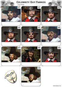 Celebrity Guy Fawkes Mini Picture Quiz - Z3212