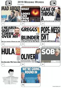Missing Words - News Headlines 2019 - Z3240