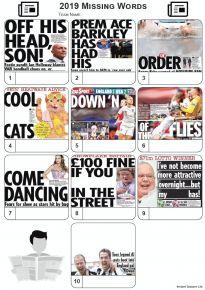 Missing Words - News Headlines 2019 - Z3242