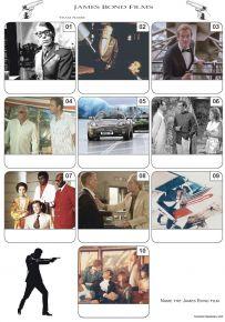 James Bond Films Mini Picture Quiz - Z3248