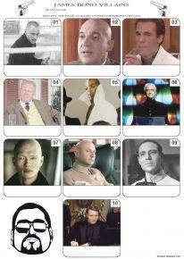 James Bond Villains Mini Picture Quiz - Z3249