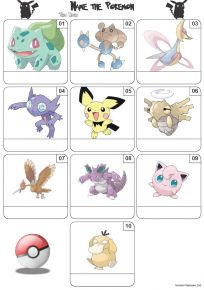 Pokemon Mini Picture Quiz - Z3259