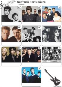 Scottish Pop Groups Mini Picture Quiz - Z3306