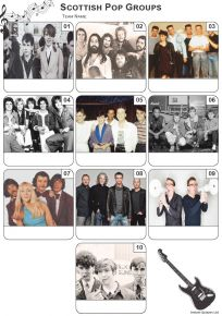 Scottish Pop Groups Mini Picture Quiz - Z3307