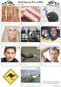 Australian Pic 'n' Mix Mini Picture Quiz - Z3308