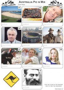 Australian Pic 'n' Mix Mini Picture Quiz - Z3309