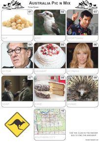 Australian Pic 'n' Mix Mini Picture Quiz - Z3310