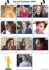 Academy Award Nominees 2020 Mini Picture Quiz - Z3319