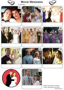 Movie Weddings Mini Picture Quiz - Z3327