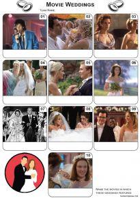 Movie Weddings Mini Picture Quiz - Z3328