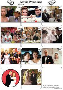 Movie Weddings Mini Picture Quiz - Z3329