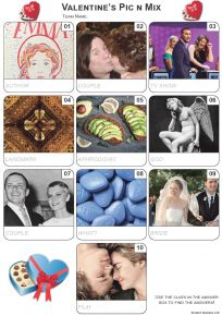 Valentine Pic 'n' Mix Mini Picture Quiz - Z3345