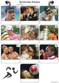 Sporting Kisses Mini Picture Quiz - Z3350