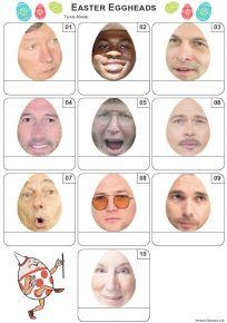 Easter Eggheads MIni Picture Quiz - Z3372