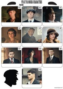 Peaky Blinders Mini Picture Quiz - Z3382