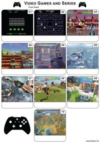 Video Games Mini Picture Quiz - Z3390
