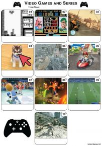 Video Games Mini Picture Quiz - Z3391