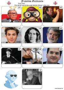 Famous Georges Mini Picture Quiz - Z3397