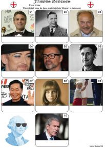 Famous Georges Mini Picture Quiz - Z3398