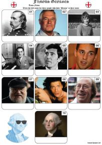 Famous Georges Mini Picture Quiz - Z3399