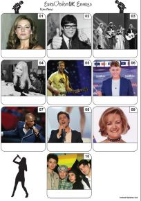 UK Eurovision Song Contest Mini Picture Quiz - Z3410