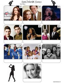 UK Eurovision Song Contest Mini Picture Quiz - Z3411