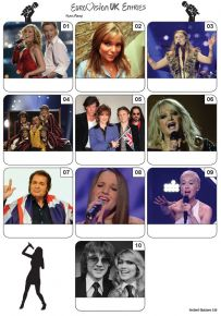 UK Eurovision Song Contest Mini Picture Quiz - Z3413