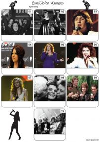 Eurovision Song Contest Winners Mini Picture Quiz - Z3414