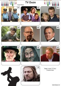 TV Dads Mini Picture Quiz - Z3434