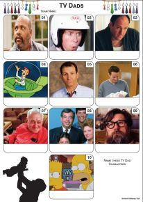 TV Dads Mini Picture Quiz - Z3435