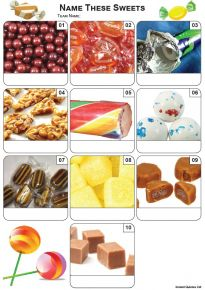 Sweets Mini Picture Quiz - Z3436